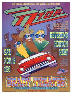 ZZ Top & Reverend Horton Heat Brady Theater Tulsa, OK Nov. 1996