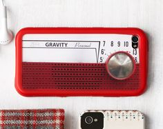 This A.M. radio-inspired iPhone cover turns up the old-school charm. ($22.50; touchzerogravity.com)