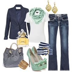 Mint to Be, created by mystyleboard.poly...