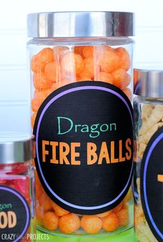 "Cute ""Dragon Fire Balls"" for a fun How to Train Your Drago birthday party"