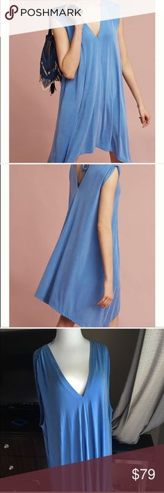 New Anthropologie dress Beautiful blue dress. Soft and comfortable dress. Bundle and save on shipping, as I discount bundles. everything comes from a pet and smoke free home Dresses