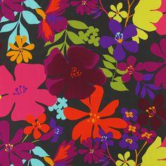 Harina 2 - dunkelbraun - Möbelstoffe Blumen - stoffe.de