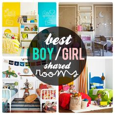 girls and boys shared bedroom ideas - Google Search  Their own space? Off limits to other? Reading nook? Floor pillows?