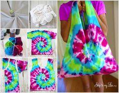 DIY Tie Dye Shirt Bag