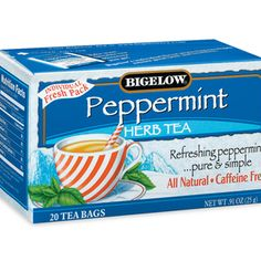 Peppermint from Bigelow Tea