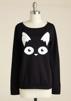Are Mew Afraid of the Dark? Pullover. Gather around the campfire for thrilling tails in this ModCloth-exclusive, black top. #black #modcloth