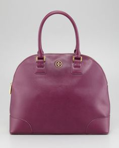 Robinson Dome Satchel Bag, Pretty Violet by Tory Burch at Neiman Marcus.