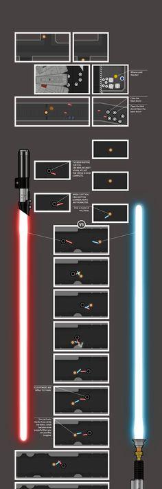 Die komplette Star Wars-Episode IV in einer gigantisch langen Graphic Novel.