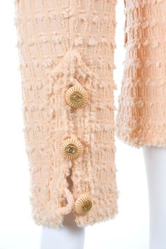 Chanel Jacket in Peach | From a collection of rare vintage jackets at https://www.1stdibs.com/fashion/clothing/jackets/