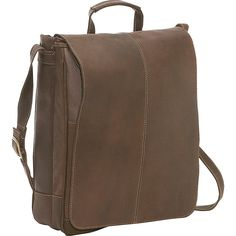 Le Donne Leather Distressed Leather 17' Laptop Messenger -- Details can be found by clicking on the image.