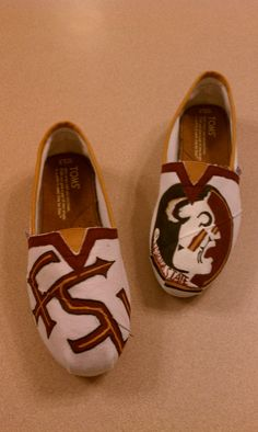 DALSKDJFA;LKJ NEED  FSU Toms  FREE SHIPPING by PaigeKirbo on Etsy, $95.00