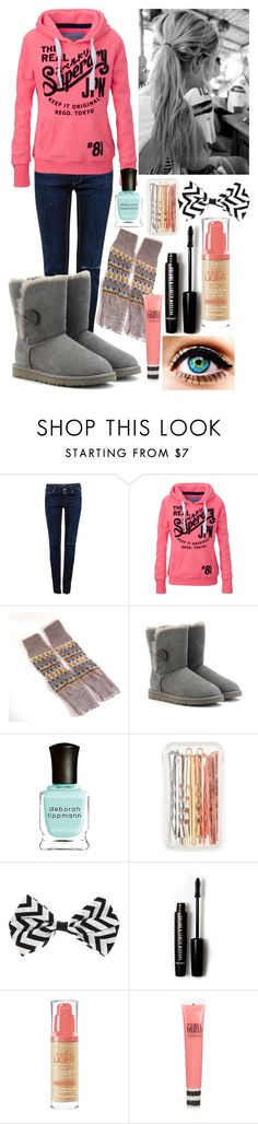 """["" by emmajrobertson ❤ liked on Polyvore featuring beauty, Pull&Bear, Superdry, UGG Australia, J.Crew, Forever 21, Bourjois and Topshop"