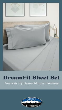 Through 5/31/21 only, get a free DreamFit sheet set with purchase of any Denver Mattress Brand mattress while supplies last. #doorbuster #memorialdaysale #denvermattress #free King Size Pillows, Bed Pillows, Purple Accessories, Adjustable Base, Sleep Better, Mattress Brands, Queen Size, Sheet Sets, Denver