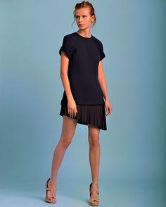 Derek Lam 10 Crosby 2-in-1 Pleated Dress   Shop IntermixOnline.com