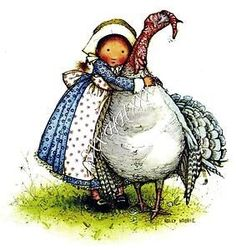 Okay, this is a sweet Thanksgiving card. I love Holly Hobbie hugging her turkey. Sarah Kay, Holly Hobbie, Thanksgiving Pictures, Thanksgiving Blessings, Vintage Thanksgiving, Thanksgiving Turkey, Toot & Puddle, American Greetings, Cute Illustration