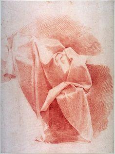 Marcantonio Franceschini, Drapery Study, late 17th or early 18th century