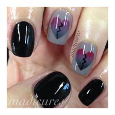 Check out this entry in Happy vs. Anti-Valentine's Manis!
