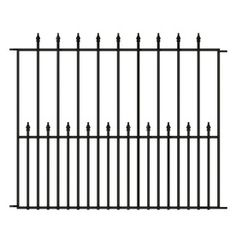 Gilpin 8 Ft X 8 Ft Black Aluminum Fence Gate Home