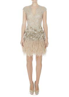 Lace & feathers dress by matthew williamson. #weddingdress