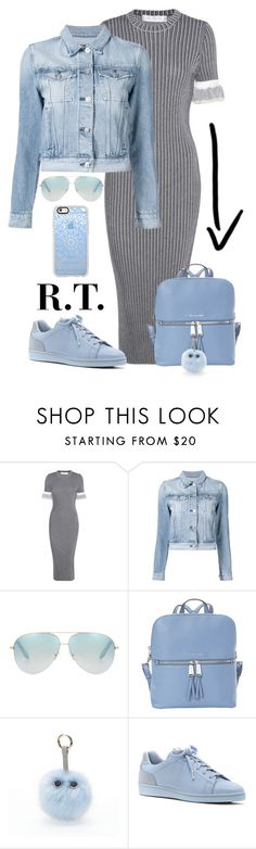 """R.T.-1767 Pastel Blue (Win Trophy)"" by sopo-davituri on Polyvore featuring мода, Victoria Beckham, 3x1, MICHAEL Michael Kors, Under One Sky, ED Ellen DeGeneres и Casetify"