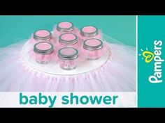 Princess Baby Shower Ideas: Tutu Cake Stand & Pink and White Candies | Pampers - YouTube
