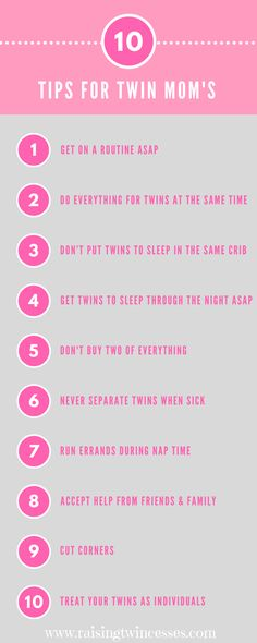 Tips for twin moms. Advice for moms of twins. Mom Advice, Parenting Advice, Twins Schedule, Newborn Twins, Triplets, Raising Twins, Twin Mom, Mom And Baby, Mom Blogs
