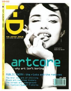 """cMag619 - i-D Magazine cover """"Beatrice Dalle"""" by Craig McDean / The Artist issue nº 107 / August 1992"""
