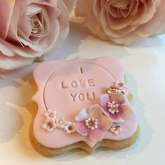 'I Love You' Valentine's Day Cookie