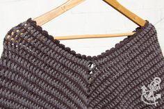 Cape with Scalloped Crochet Neck Finish