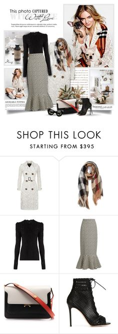 """""""Love Me,Love My Dogs"""" by thewondersoffashion ❤ liked on Polyvore featuring Burberry, Isabel Marant, Saloni, Marni, Gianvito Rossi and ZeroUV"""