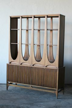 Droooooooool.....RARE Beautiful Mid Century Double Sided Brasilia Room Divder by Broyhill