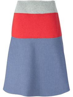 Shop Kolor colour block A-line skirt  in Andreas Murkudis from the world's best independent boutiques at farfetch.com. Over 1500 brands from 300 boutiques in one website.