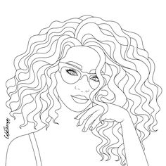 People Coloring Pages, Coloring Pages For Girls, Coloring Pages To Print, Coloring Book Pages, Gift Drawing, Black Love Art, Printable Coloring Sheets, African Art, Illustration