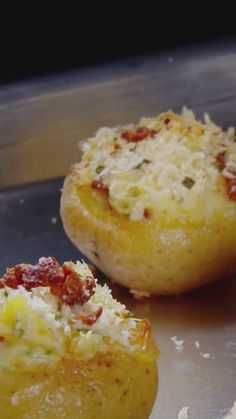 Twice-Baked Potatoes This mini version of a comfort-classic is the perfect side to any meal. The kids will love them too!This mini version of a comfort-classic is the perfect side to any meal. The kids will love them too! Potato Appetizers, Mini Appetizers, Seafood Appetizers, Christmas Appetizers, Bridal Shower Appetizers, Toothpick Appetizers, Dinner Party Appetizers, Breakfast Appetizers, New Years Appetizers