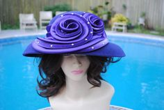 0bf66a144bc Vintage Hi s Classic Hat Purple Church Derby by ViktoriaLeighs Classic Hats