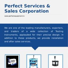 +91-8377802877 A Member of Perfect Services & Sales Corporation www.perfectequipment.in We are one of the leading manufacturers, exporters, and traders. http://slidehot.com/resources/tensile-strength-tester-by-perfect-services-sales-corporation.51242/