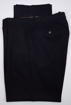 98049ec4eb Tommy Bahama Pants 38x35 Mens Black Silk Cotton Blend Pleated Pant Trouser  Size