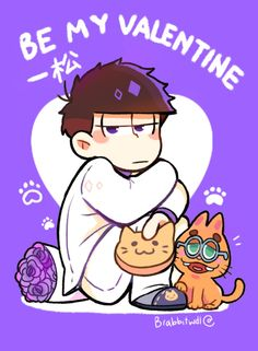 , my Kitty Dark Anime Guys, All Anime, Me Me Me Anime, Valentines Anime, Be My Valentine, Japanese Show, Osomatsu San Doujinshi, Ichimatsu, Dear God
