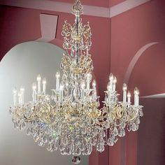 Classic Lighting Via Venteo 24 Light Crystal Chandelier Crystal Type: Swarovski Spectra Crystal, Finish: Millenium Silver
