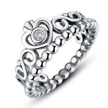Auténtica plata de ley 925 mi princesa anillo corona de la reina diseño anillos de boda para para la joyería A7204(China (Mainland))