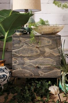 Handcarved Streamlet Nightstand #anthroregistry