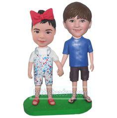 Custom Bobbleheads Children Hand In Hand