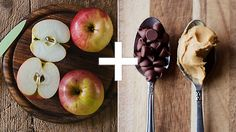 7 powerful food combos to control diabetes (like an apple with peanut butter and dark chocoalte). #diabeticdiet #healthyeating | everydayhealth.com