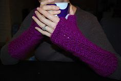arm warmers!  I might have to try this pattern to keep my arms warm at work!