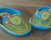 crochet baby sandal 0-12 months with fish