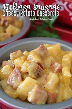 Kielbasa Sausage Cheesy Potato Casserole is full of kielbasa sausage, tender potatoes and a creamy cheese sauce. Kilbasa Sausage Recipes, Polish Sausage Recipes, Smoked Sausage Recipes, Sausage Crockpot, Kielbasa Sausage, Breakfast Recipes With Kielbasa, Leftover Sausage Recipes, Easy Kielbasa Recipes, Venison Recipes