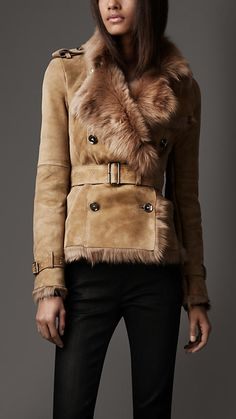 Burberry Belted shearling jacket F/W 2012-2013