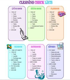 Love this cleaning list for the kids ,,, going to use this for sure!!  http://raisingahealthyfamily.com/wp-content/uploads/2010/07/free-printable-kids-cleaning-lists.pdf Chore Checklist, Chore List, Kids Checklist, Rules For Kids, Chores For Kids, Cleaning Lists, Cleaning Schedules, Weekly Cleaning, House Cleaning Checklist