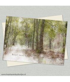 Heel veel sterkte gewenst aquarel bos
