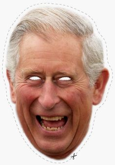 Free Prince Charles Cut Out Printable Mask Queens Birthday Party, Queen Birthday, Printable Masks, Free Printables, Theme Anglais, Humor Ingles, Lady Diana Spencer, British Themed Parties, Papercraft Anime